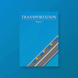 Logistic transport business templates for flyers brochure. Shipping industry Annual report folder. Vector. Logistic transport business corporate Identity Stock Photo