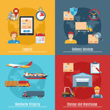 Logistic And Transportation Concept Set Stock Image