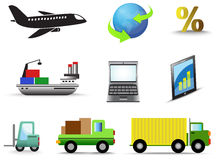 Logistic and transportation icon collection set Stock Photography