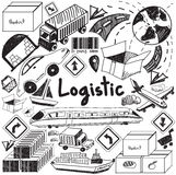 Logistic, transportation, and inventory management handwriting d Royalty Free Stock Photos