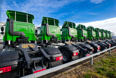 Logistic Trucks parked Royalty Free Stock Photography