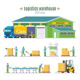 Logistic Warehouse Elements Collection Royalty Free Stock Image