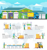 Logistic Warehouse Infographic Royalty Free Stock Photo