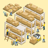 Logistic working process Stock Images