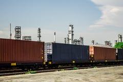 Logistica e trasporto della nave del trasporto del carico Fotografie Stock