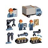 Magazzino ed insieme dell 39 icona dell 39 attrezzatura di for Piano del magazzino