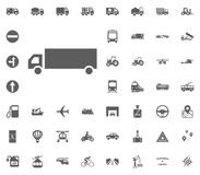 Logisticks-Ikone Gesetzte Ikonen des Transportes und der Logistik Gesetzte Ikonen des Transportes Lizenzfreies Stockbild