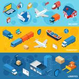 Logistics Banner Set Royalty Free Stock Photos
