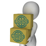 Logistics Boxes Mean Packaging Transport Royalty Free Stock Photography