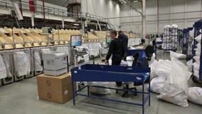 Logistics center stock video