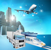 Logistics city concept Royalty Free Stock Image