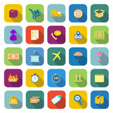 Logistics color icons with long shadow Royalty Free Stock Photos