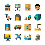 Logistics Color Icons Set Stock Photos