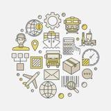 Logistics colorful illustration Stock Photo