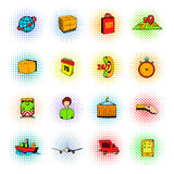 Logistics comics icons Stock Image