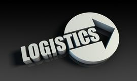 Logistics. Concept With an Arrow Going Upwards 3D Royalty Free Stock Image