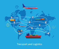 Logistics concept flat illustration. Stock Image