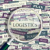 LOGISTICS. Concept related words in tag cloud. Conceptual info-text graphic. Word collage royalty free illustration
