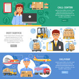 Logistics Delivery Banner Set Royalty Free Stock Image