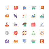 Logistics delivery Colored Vector Icons 2 Stock Images