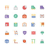 Logistics delivery Colored Vector Icons 8 Royalty Free Stock Photos