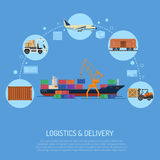 Logistics and delivery concept Royalty Free Stock Images
