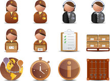 Logistics and Delivery icons Stock Photography