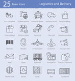Logistics and delivery icons Royalty Free Stock Photography