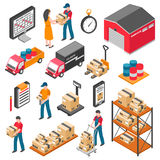 Logistics And Delivery Isometric Icons Set royalty free illustration
