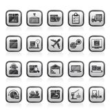 Logistics, delivery, transportation and cargo icons Stock Photography
