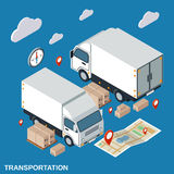 Logistics, delivery, transportation vector concept Royalty Free Stock Photo