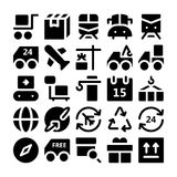 Logistics delivery Vector Icons 2 Royalty Free Stock Images