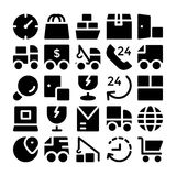 Logistics delivery Vector Icons 7 Stock Images
