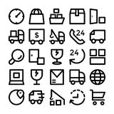 Logistics delivery Vector Icons 7 Stock Photo