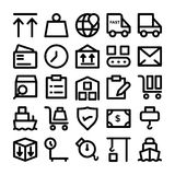 Logistics delivery Vector Icons 8 Royalty Free Stock Photos