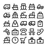 Logistics delivery Vector Icons 1 Royalty Free Stock Image
