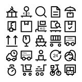 Logistics delivery Vector Icons 4 Royalty Free Stock Photography