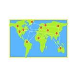 Logistics Destination Map Stock Photo