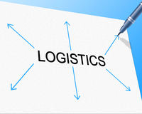 Logistics Distribution Shows Supply Chain And Delivery Stock Image