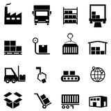 Logistics, distribution and warehouse icons Stock Image