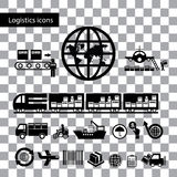 Logistics export icon set Royalty Free Stock Photos