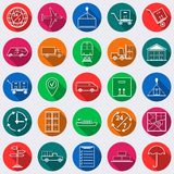 Logistics flat vector icons Stock Photos