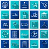 Logistics flat vector icons Royalty Free Stock Images