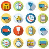 Logistics flat vector icons Stock Photography