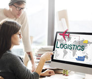 Logistics Freight Management Storage Supply Concept Stock Images