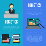 Logistics and freight transportation banners set Royalty Free Stock Photography