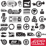 Logistics icons. Logistic company signs stock illustration