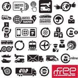 Logistics icons stock illustration