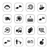 Logistics icons - BW series Stock Photo