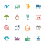 Logistics Icons - Colored Series Stock Photography